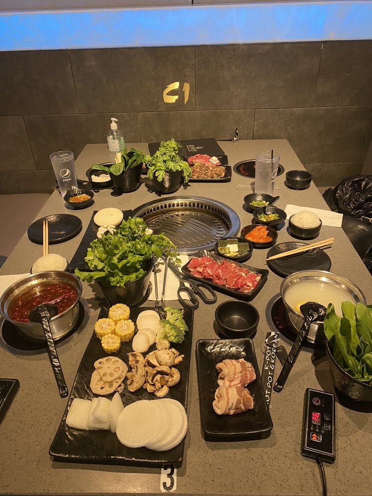 Food from KPOT Korean BBQ & Hot Pot