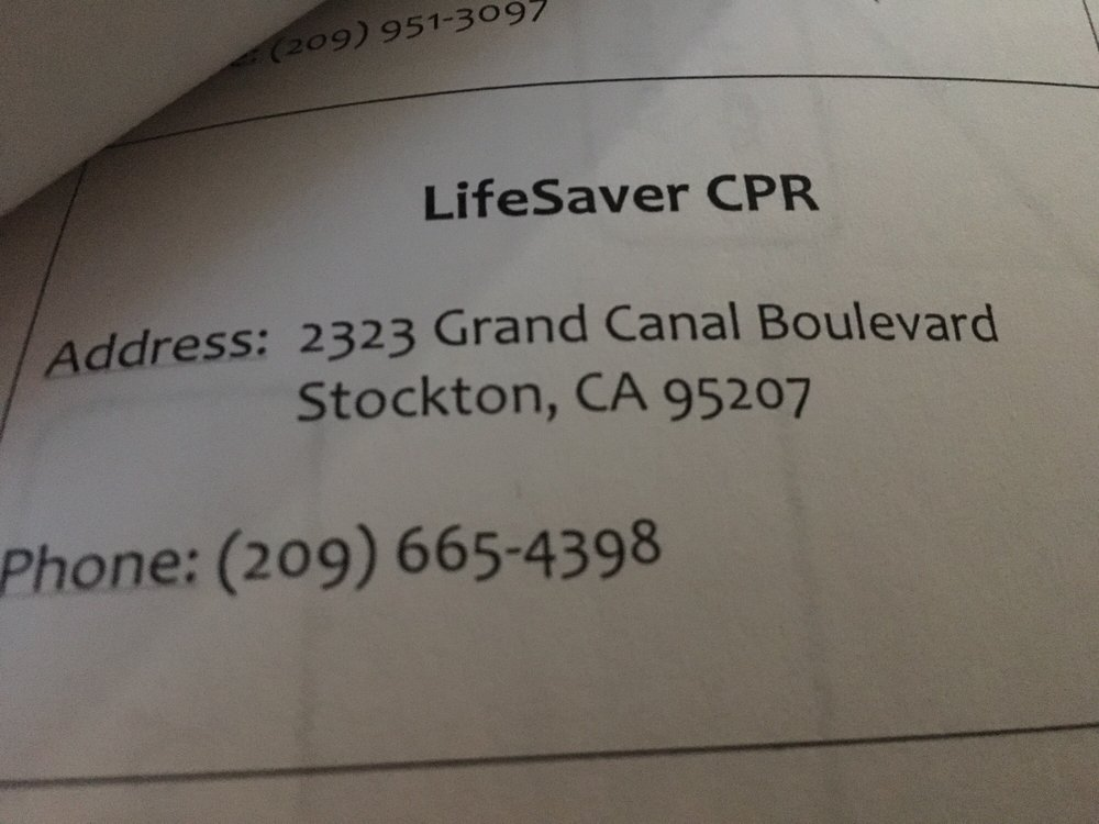 LifeSaver CPR: 2323 Grand Canal Blvd, Stockton, CA