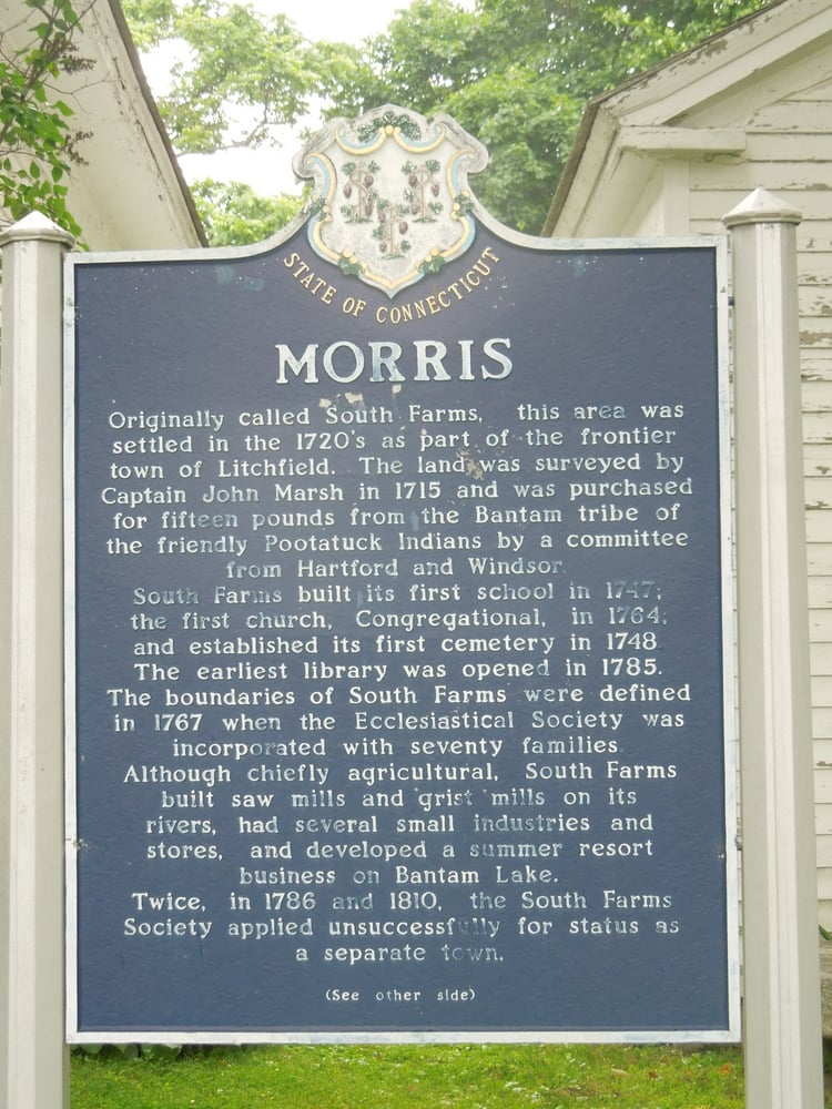 Morris Historical Marker: 12 South St, Morris, CT