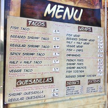 Del solar fish tacos order online 114 photos 92 for Fish taco menu