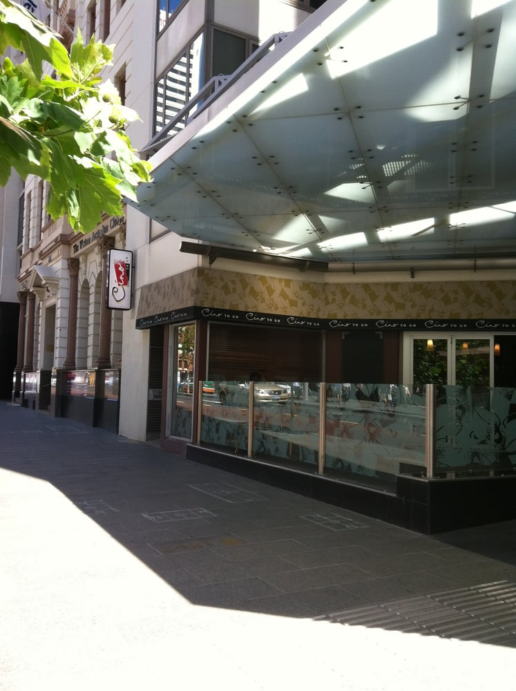 cino to go cafes 105 st georges tce perth city perth