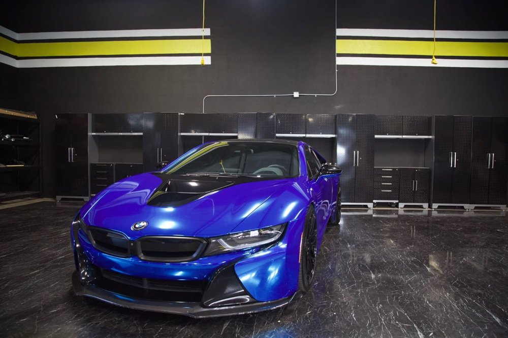 Bmw I8 Chrome Blue Rental Vehicle Available For Daily Weekly And