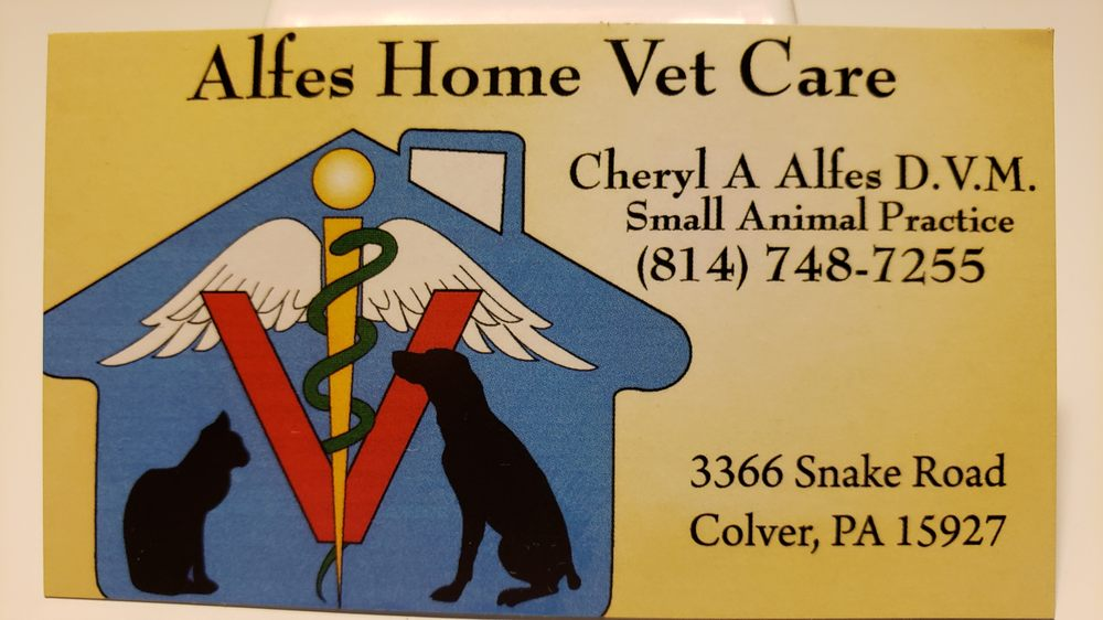 Alfes Home Vet Care: 3366 Snake Rd, Colver, PA