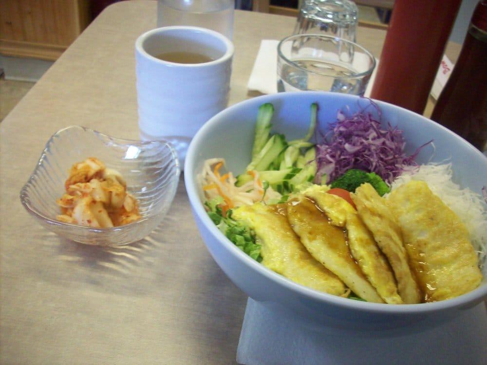 Egg batter fish bibimbap yelp for Fish batter bowl