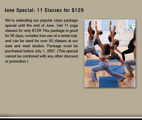 The monthly special at Yoga Sanctuary - Yelp
