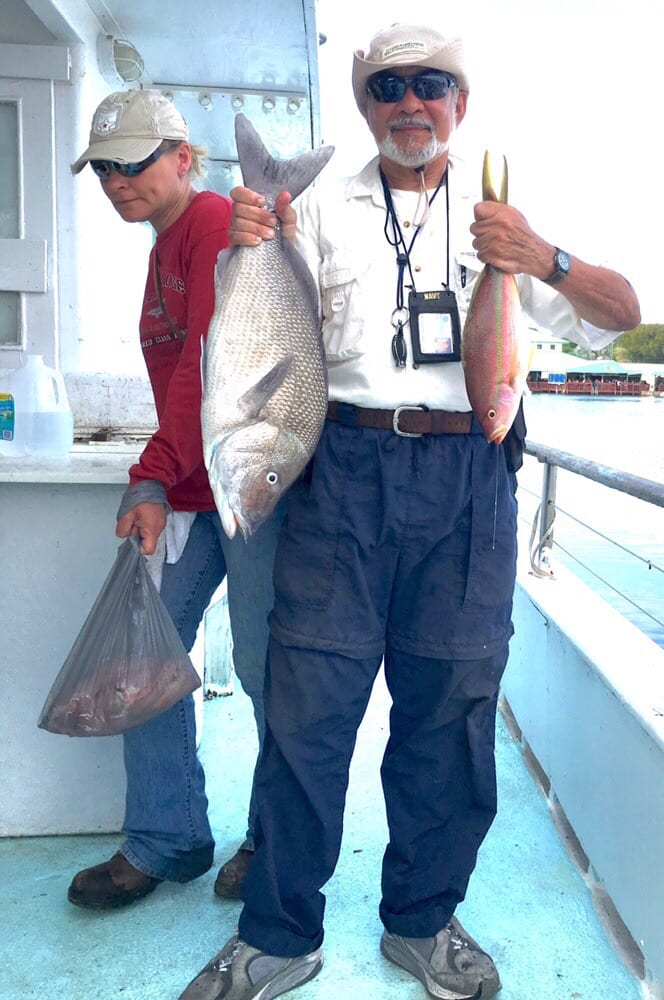 More beautiful fish from captain chan 39 s gulfstream boat yelp for Key largo party boat fishing