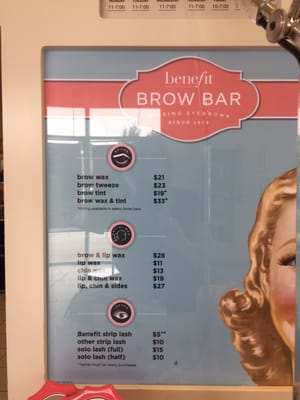 Benefit Brow Bar at Ulta 2645 Vista Way Retail Oceanside, CA Shoe