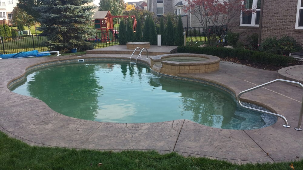 In Ground Swimming Pool Built In Shelby Twp Michigan By