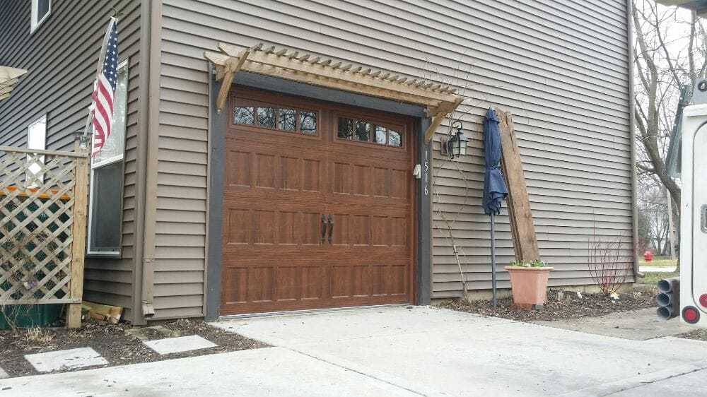 Amarr Oak Summit Garage Doors amarr oak summit 3000 recessed panel in walnut. - yelp