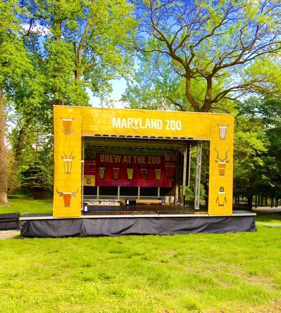 Apex 2016 mobile stage rental for Brew In The Zoo event at