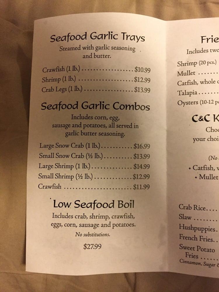 C & C Crab Shack: 809 N Parrish Ave, Adel, GA