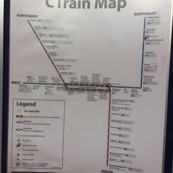 Calgary Transit Train Map on