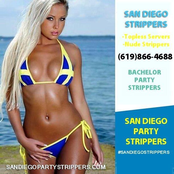 Blonde stripper and san diego