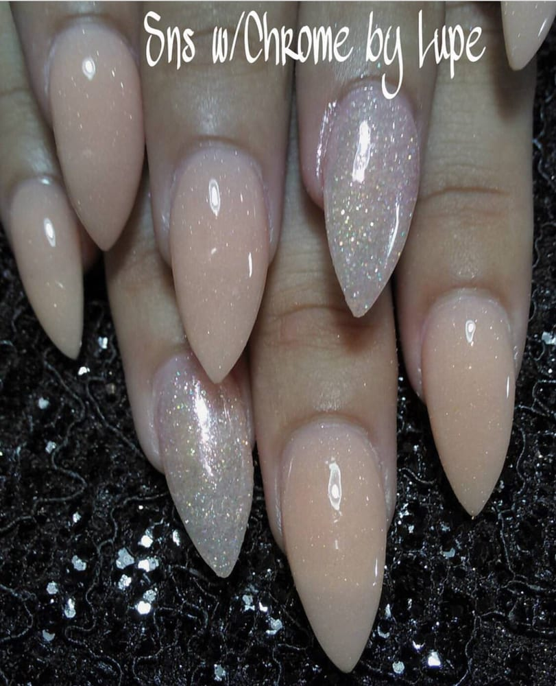 SNS nails dipping powder with new mirror chrome effect ! - Yelp
