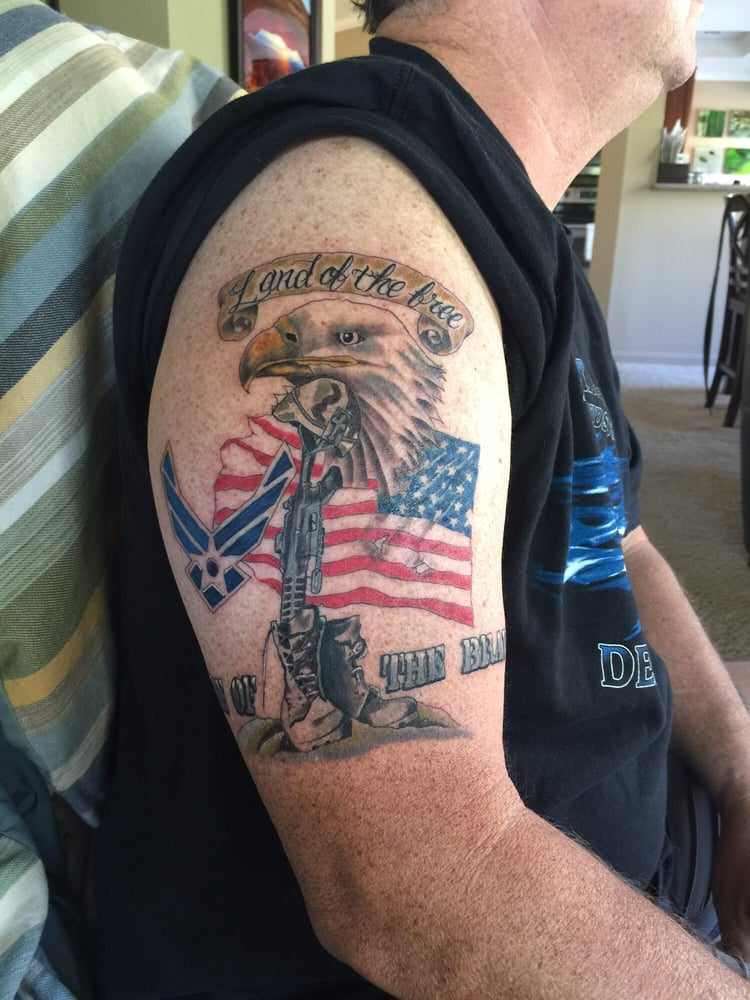 As a disabled air force veteran i wanted to honor those for Palm springs tattoo shops