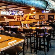 'Photo of The Longboard Restaurant & Pub - Huntington Beach, CA, United States' from the web at 'https://s3-media2.fl.yelpcdn.com/bphoto/RyfXMRv-UlU42zI2ayiM2g/180s.jpg'