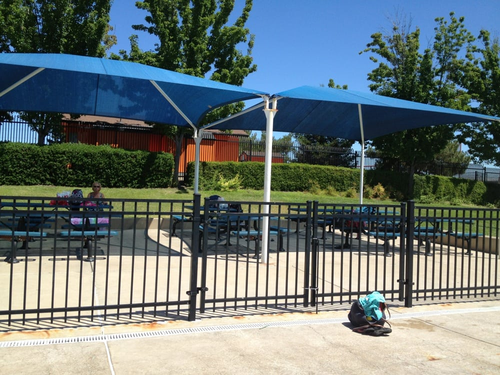 Shaded picnic area close to the tots area yelp for Olympic swimming pool san ramon
