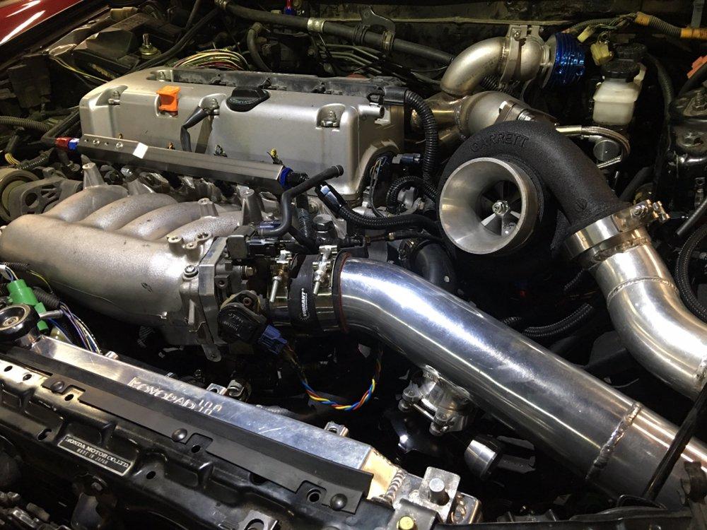 Custom Built Turbo Kit On A K Swapped Acura Integra Yelp - Acura integra turbo kit