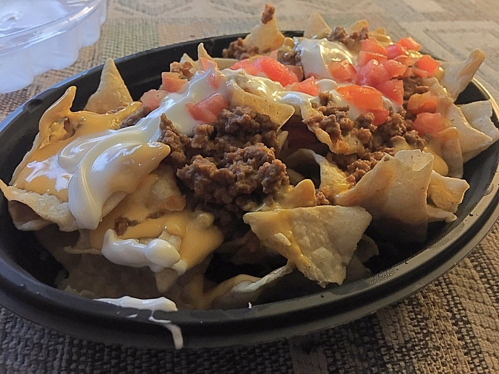 nachos bell grande no beans extra beef and two cups of jalapeño