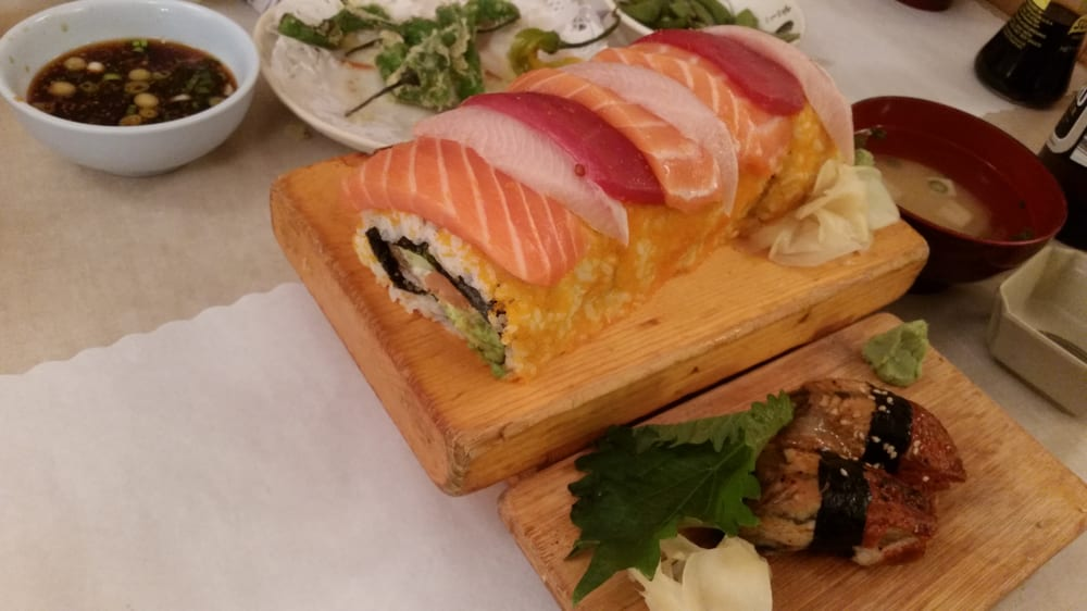 Rainbow roll is awesome and huge 8 pc size of a small for Akasaka japanese cuisine