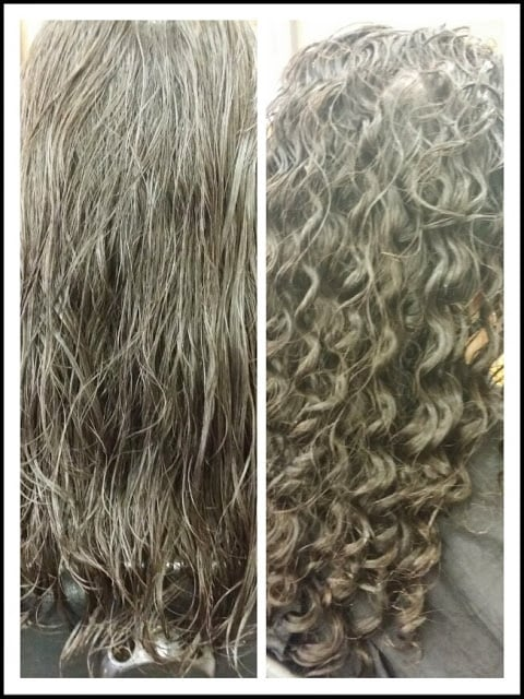 Long Hair Perm Before And After Yelp