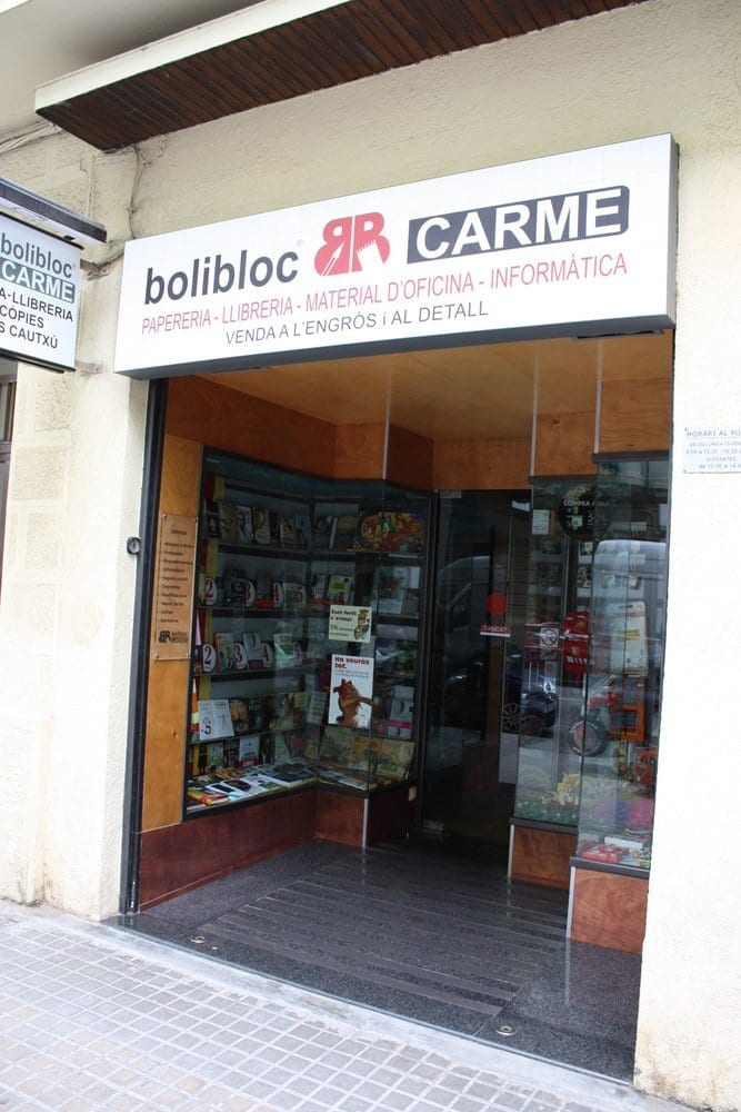 Bolibloc carme material de oficina carrer de llull for Material oficina barcelona