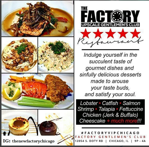 Photo Of The Factory Gentlemens Club Chicago Il United States Actual Food