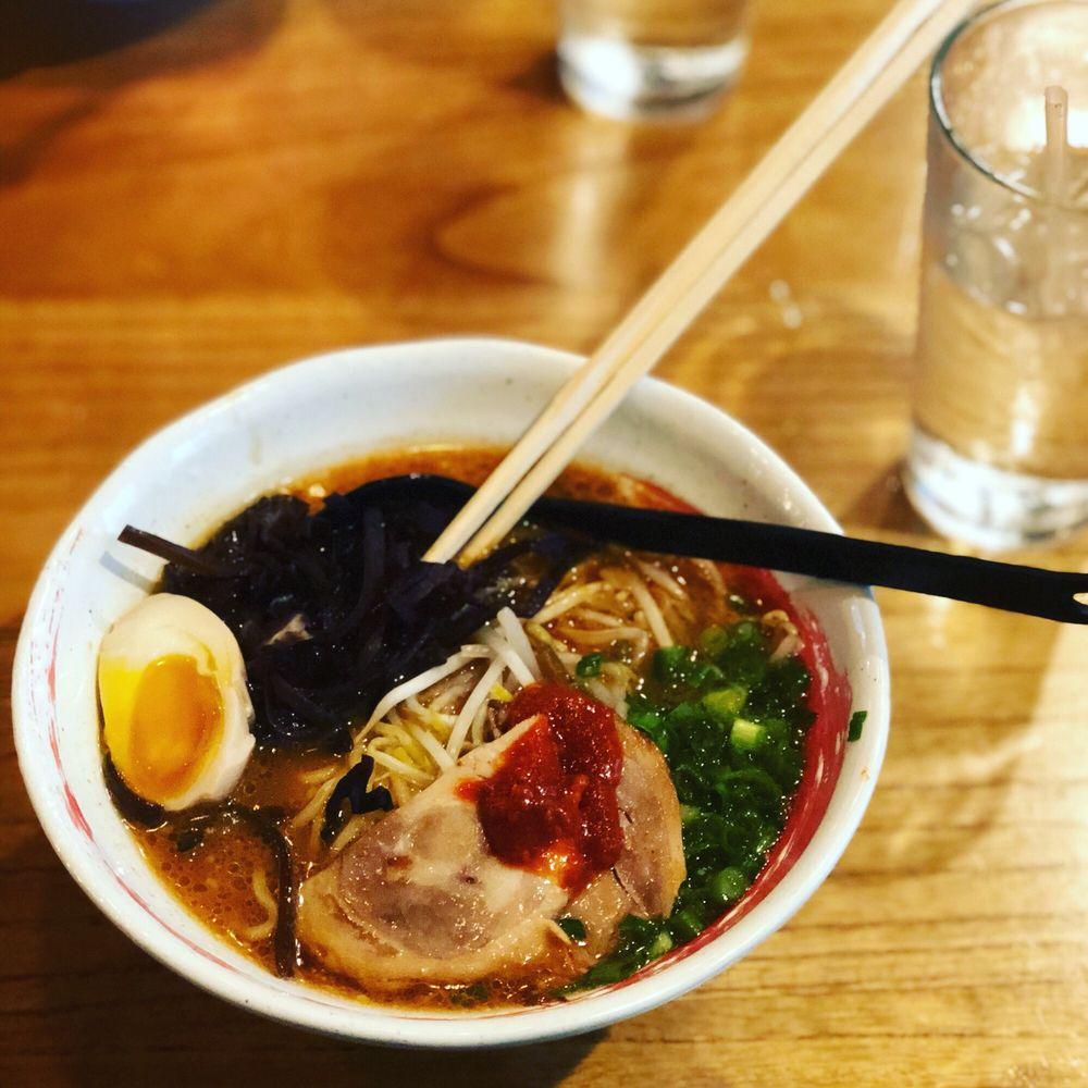 Food from Tanaka Ramen