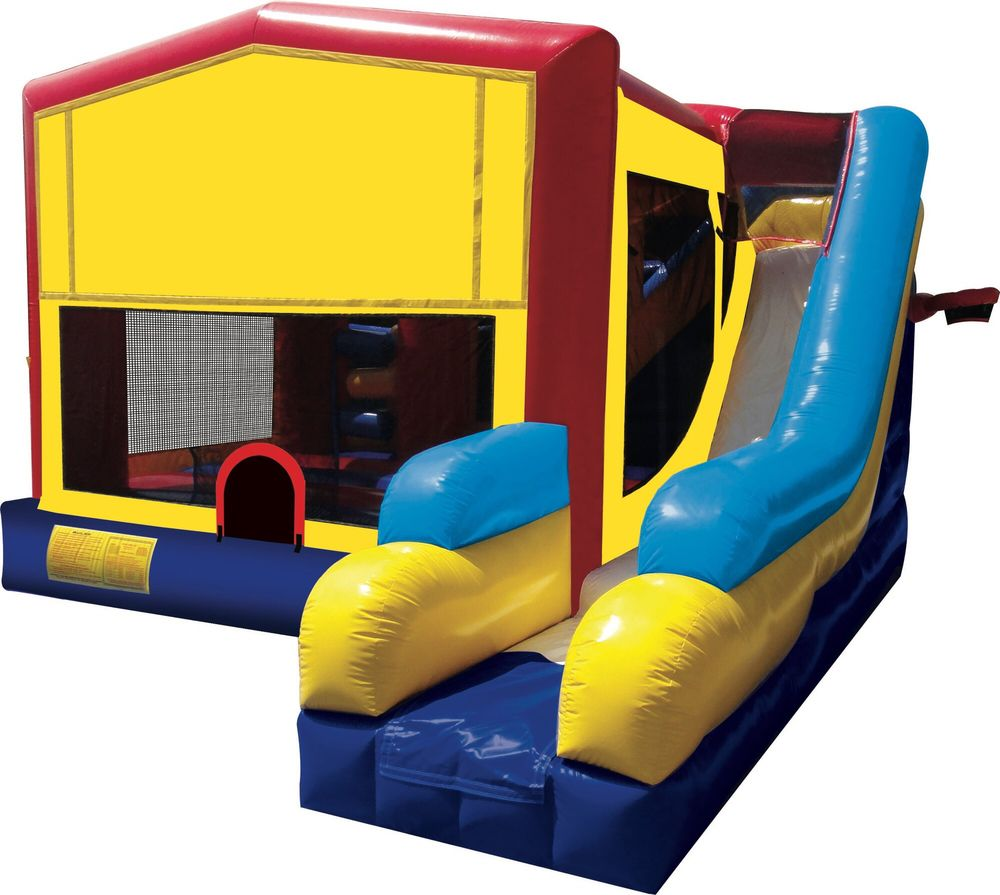 Bounce House With Outside Slide Inside Amp Outside