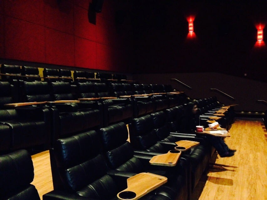 extremely nice movie theater very wide reclining leather