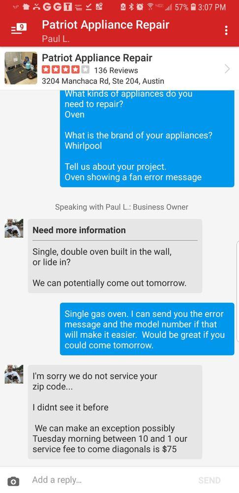 Patriot Appliance Repair & HVAC - 65 Photos & 173 Reviews