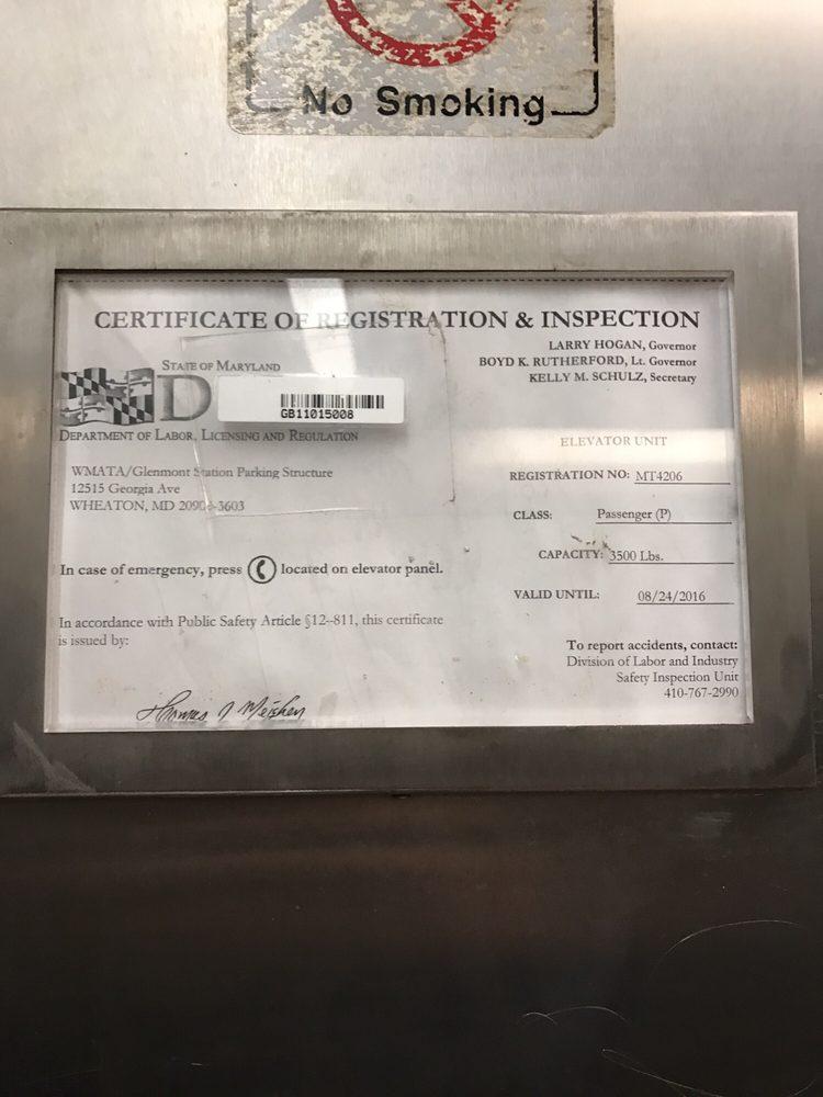 Expired Elevator Certificate Yelp