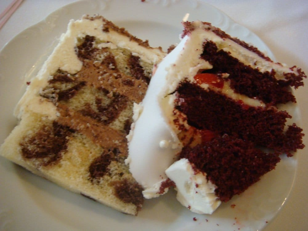 Marble Cake With Chocolate Mousse Filling Buttercream