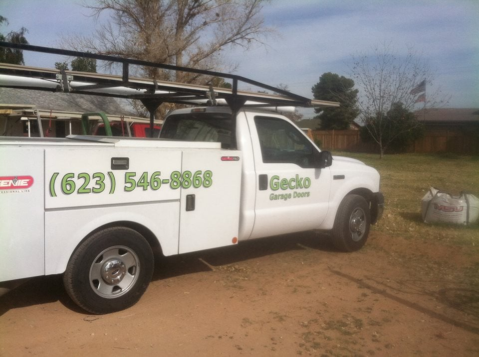 Service truck for gecko garage door service serving the for Garage door repair surprise az