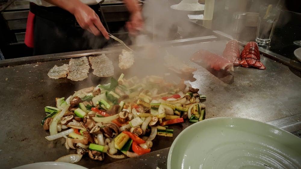 Veggies on the table with shrimp lobster yelp - Shogun japanese cuisine ...