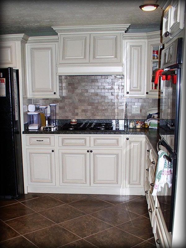 Arlington white kitchen cabinets by lily ann cabinets yelp - Lily ann cabinets ...