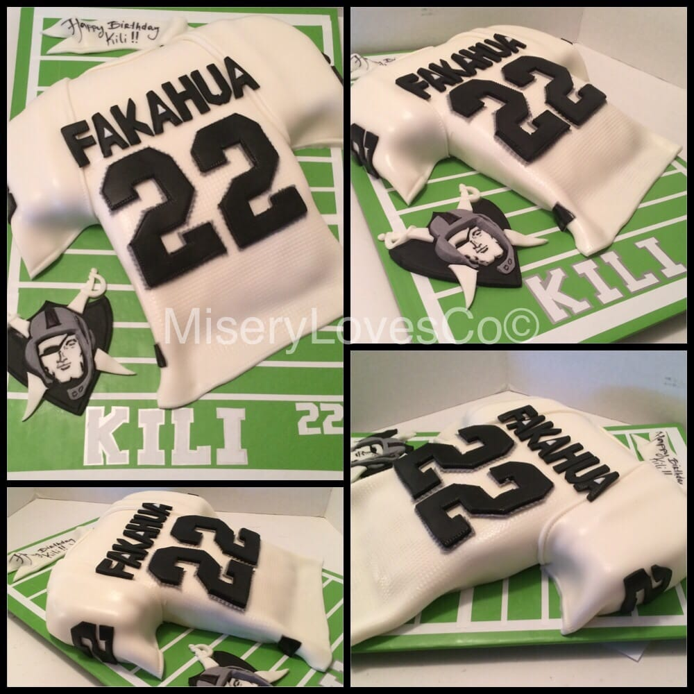 The Oakland Raiders Jersey Bday Cake All Edible Yelp