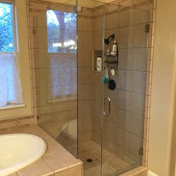 Photo Of American Heavy Glass Shower Door And Mirror   Fair Oaks, CA, United