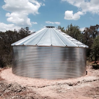 Good Photo Of Quality Roofing   Austin, TX, United States. Rainwater Tank That  Collects
