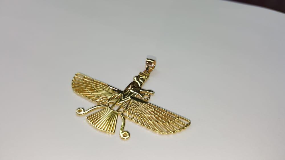 18k solid gold Farvahar Zoroastrian Persian Achaemenian pendant - Yelp