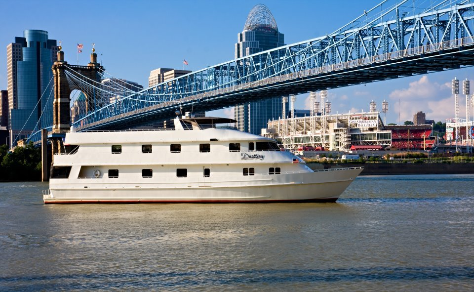 Queen City Riverboats Destiny Yacht Charters: 100 O'Fallon Ave, Dayton, KY