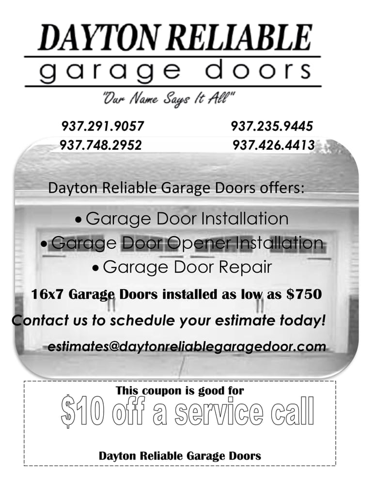 reliable garage doorDayton Reliable Garage Doors  Garage Door Services  Reviews