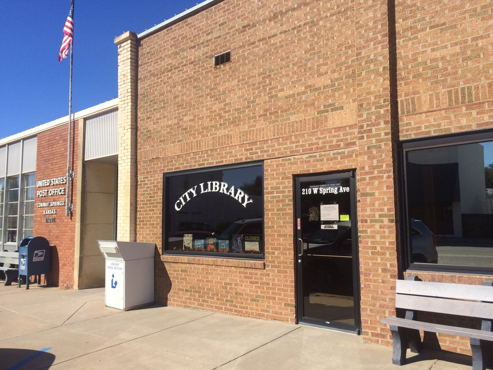 Conway Springs Library: 212 W Spring Ave, Conway Springs, KS