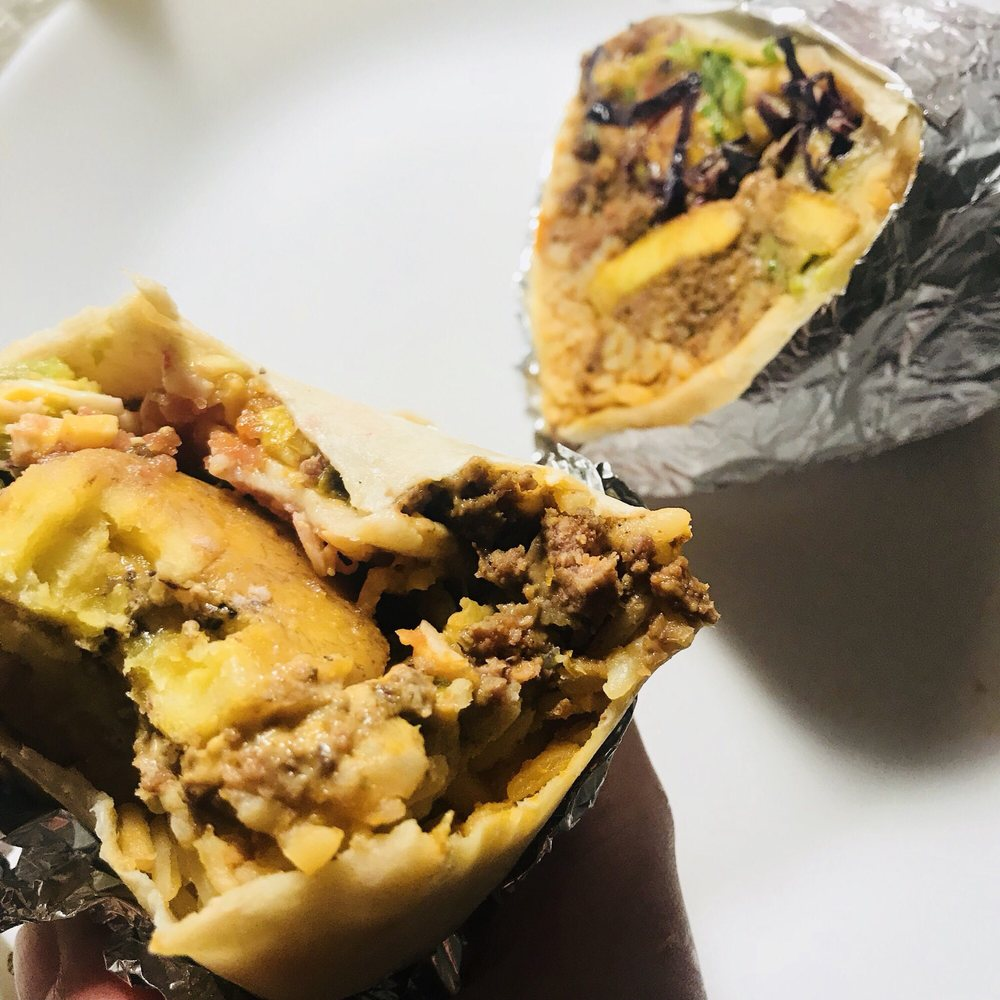 Food from El Jefe's Taqueria