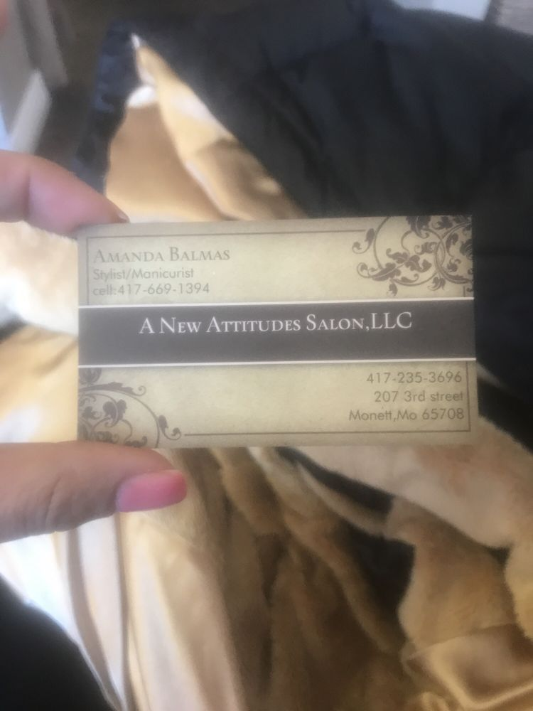 A New Attitudes Salon: 207 3rd St, Monett, MO