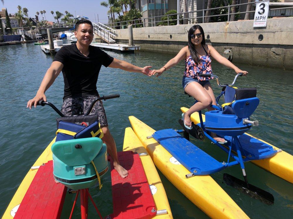 Long Beach Waterbikes: 164 N Marina Dr, Long Beach, CA