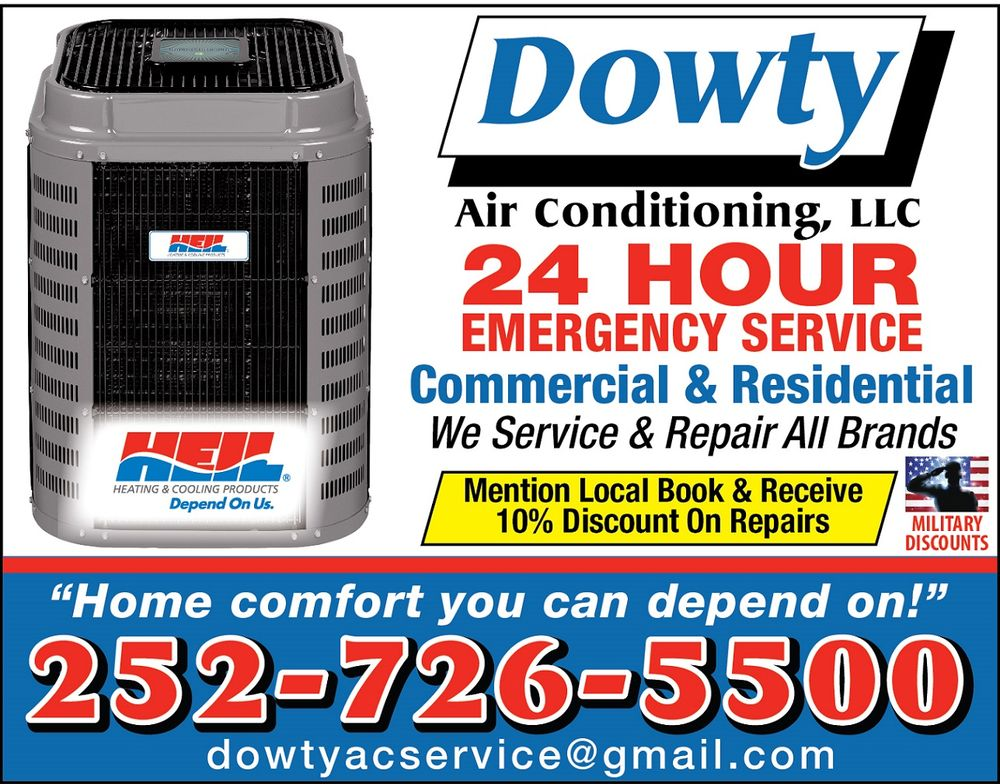 Dowty Air Conditioning: 5302 Hwy 70 W, Morehead City, NC