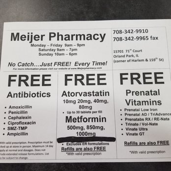 Meijer Pharmacy - Drugstores - 15701 71st Ct, Orland Park, IL ...