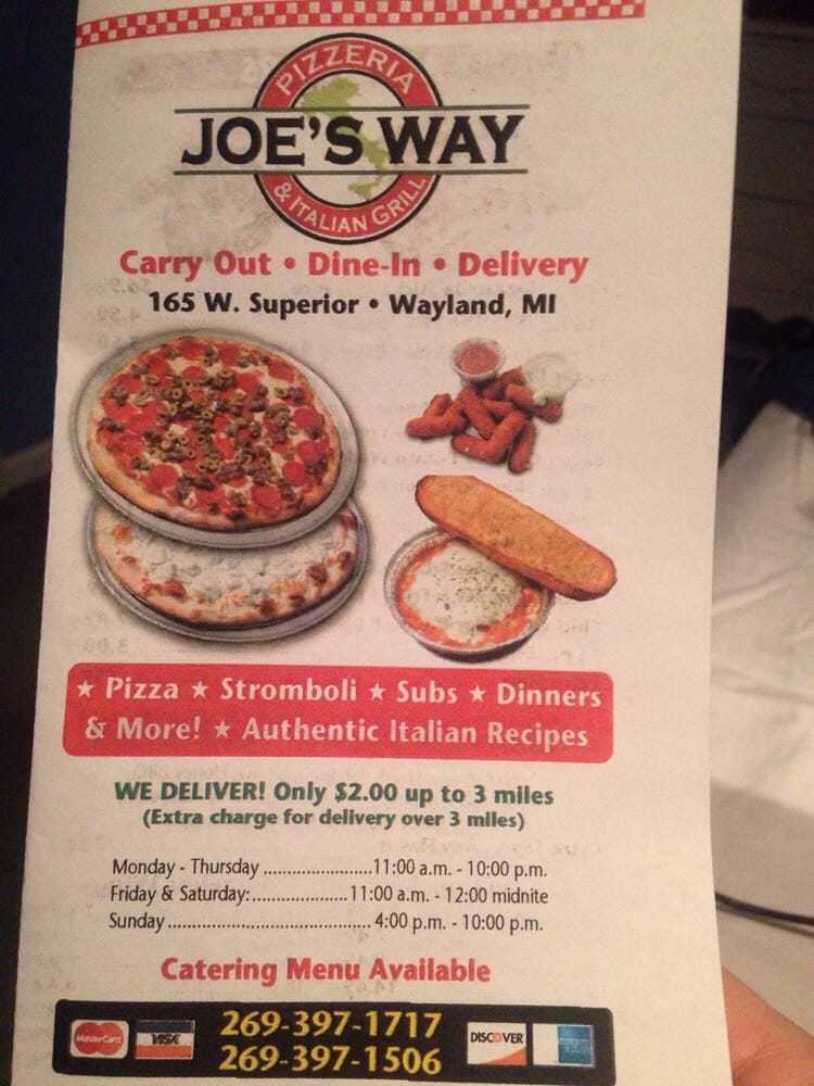 Stefano S Pizzeria 10 Reviews Pizza 165 W Superior Wayland Mi Restaurant Phone Number Last Updated January 4 2019 Yelp