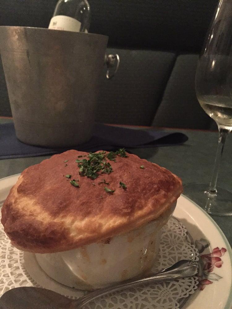 Seafood Pot Pie With A Bottle Of Washington Sauvignon